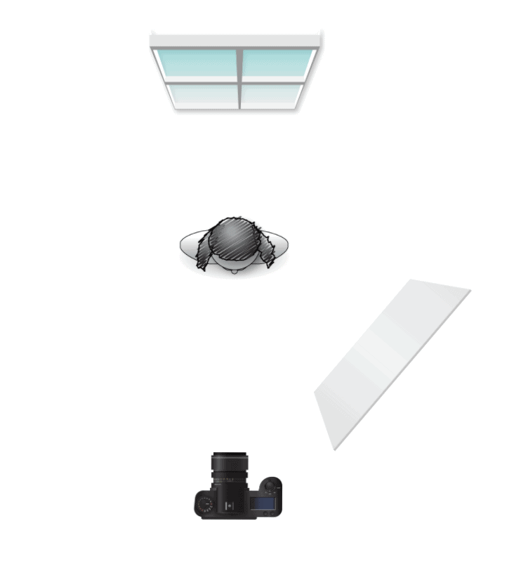 Boudoir Lighting Diagram for Partial Silhouette with a Bounce