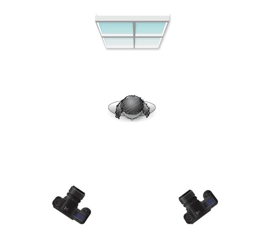 Boudoir lighting diagram for partial silhouette